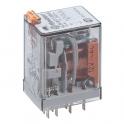 Relais auxiliaire embrochable 4 RT 7A - Type AC - 230 V - Série 55 - Finder