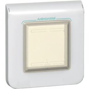 Plaque blanche anti-microbienne - 2 modules - Mosaic - Legrand