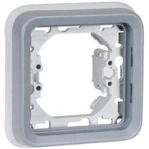 Support plaque grise composable - 1 poste - Plexo - Legrand