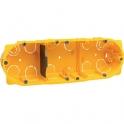 Boîte d'encastrement cloison sèche - 40 x 50 mm - 3 postes - Batibox - Legrand