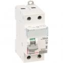 Interrupteur bipolaire DX³ ID - Type AC - 40 A - 2 modules - Connexio vis / vis - Arrivée haut / départ bas - Legrand