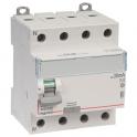 Interrupteur tétrapolaire DX³ ID - Type AC - 40 A - 4 modules - Connexio vis / vis - Arrivée haut / départ bas - Legrand