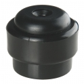 Butoir rond plastique noir creux - Ø 35 x 30 mm - Guitel Point M