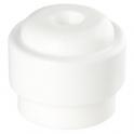 Butoir rond plastique blanc creux - Ø 35 x 30 mm - Guitel Point M