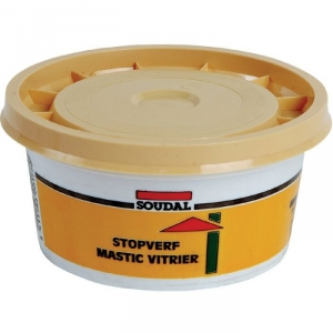 mastic base de lin 1 kg mastic vitrier soudal cazabox. Black Bedroom Furniture Sets. Home Design Ideas