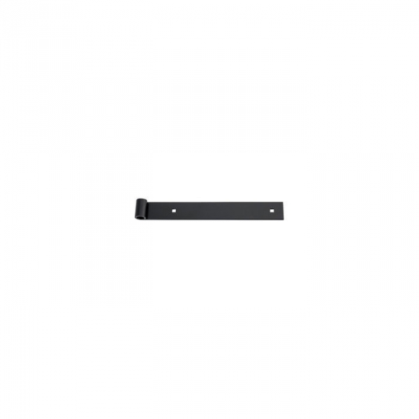 Penture noire à bout droit - 500 x 35 mm - axe 14 mm - Percée - Torbel industrie