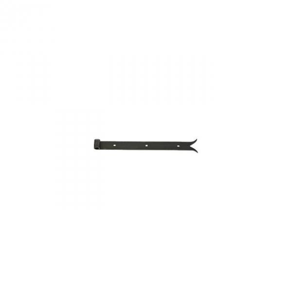 Penture noire à queue de carpe - 500 x 35 mm - axe 14 mm - Percée - Torbel industrie