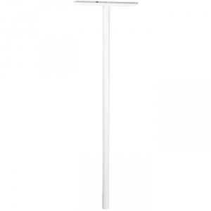 Pied aluminium blanc - Ø 45 mm - 1,10 m - Pour boîte aux lettres - Decayeux