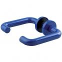 Poignée sur rosace ronde renforcé nylon bleue - Bec de cane - ZD92F - Normbau