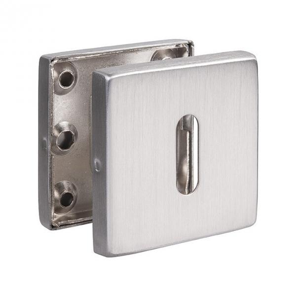 Rosace carré inox - EST.SS 50 - Clé L - La paire - Normbau