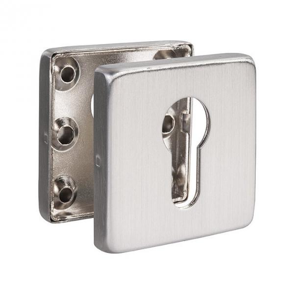 Rosace carré inox - EST.SS 50 - Clé I - La paire - Normbau