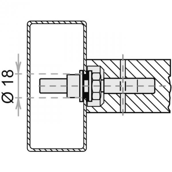 Kit de montage porte m tallique simple pour poign e de tirage stg normbau cazabox - Porte metallique isolante ...
