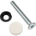 Kit de montage traversant simple blanc - Pour poignée de tirage STG - Normbau