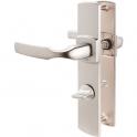 Poignée de porte sur plaque chromé velours - Condamnation - 220 mm - Artis - Vachette