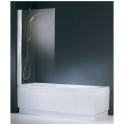 Pare-baignoire verre transparent - 1 ventail - 150 x 80 cm - Aurora - Novellini