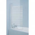 Pare-baignoire verre sérigraphié - 1 ventail - 140 x 76 cm - Samoa - Kinedo
