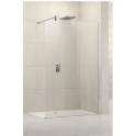 Paroi de douche fixe verre transparent - 100 cm - Lunes H - Novellini