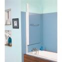 Pare-baignoire relevable verre transparent - 1 ventail - 140 x 80 cm - Aqualift - Kinedo