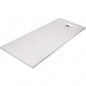 Receveur de douche rectangulaire découpable blanc - 180 x 80 cm - Oasis - Créazur