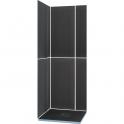 Kit receveur de douche carré complet - 90 x 90 cm - Shower Kit - Wedi