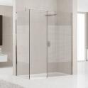Paroi de douche fixe verre sérigraphié - 120 cm - Lunes H - Novellini