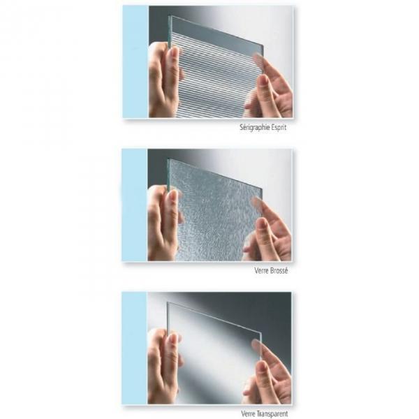Porte de douche coulissante d 39 angle verre bross 4 ventaux 780 810 mm lunes a - Porte de douche d angle coulissante ...