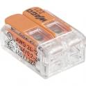 Mini borne de connexion à levier 2 fils - Série 221 - Vendu par 100 - Wago