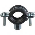 Collier isophonique zingué simple - Tube Ø 48 à 54 mm - Série lourde FR - Fischer