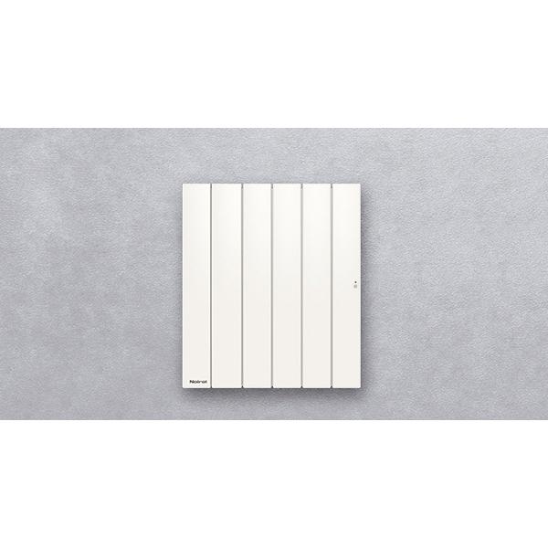 Radiateur à inertie sèche fonte - Horizontal - BELLAGIO Smart ECOcontrol® - 1500 W - Noirot