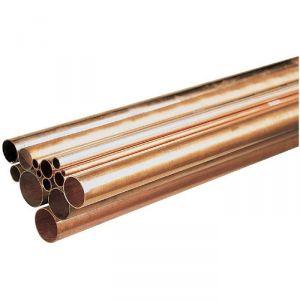 Tube cuivre en barre - Ø 22 mm - Barre de 2 m - Tréfimétaux