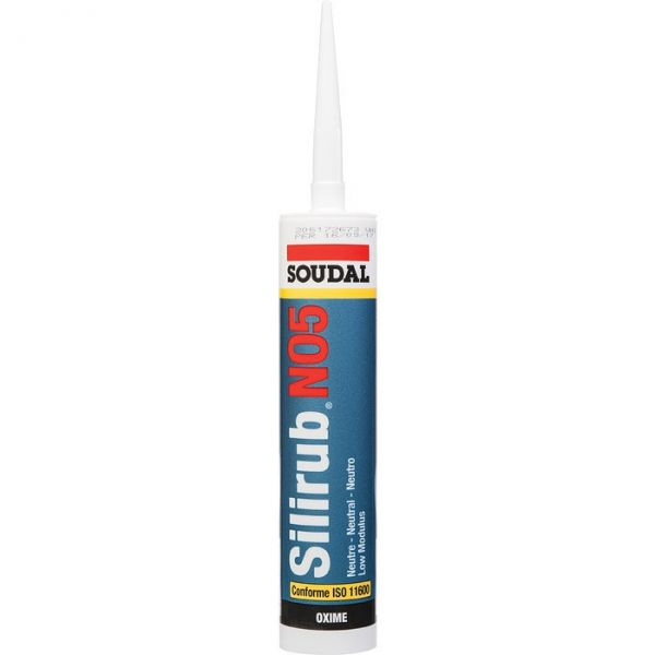 Joint de racordement blanc - 300 ml - Silirub N05 - Soudal