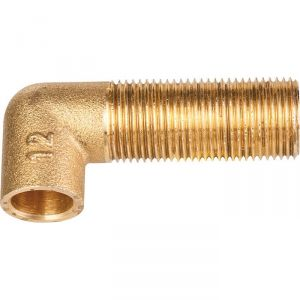 "Raccord laiton coudé long 90° à souder - M 3/8"" - Ø 12 mm - Ravani"
