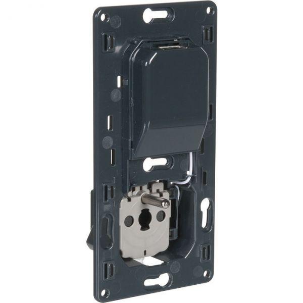Prise 2P+T + chargeur universel simple USB semi-encastré Céliane spéciale rénovation - Legrand