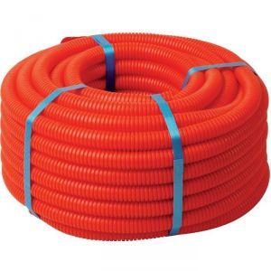 Tube PER gainé - Rouge - 12 mm - 10 mm - 25 m - Sélection Cazabox