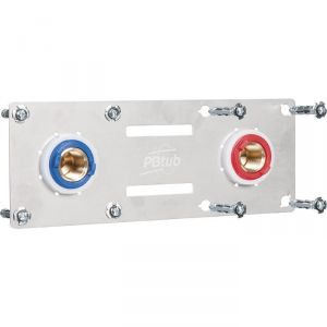 "Sertifix double entraxe 150 mm à glissement - Tube PER Ø 16 mm - F 1/2"" - PB tub"