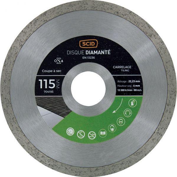 Disque diamant à tronçonner - Ø 125 mm - carrelage - SCID