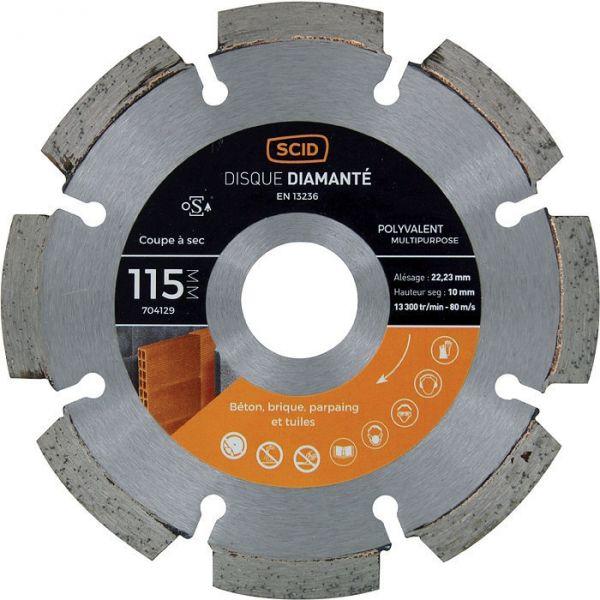 Disque diamant segmenté à tronçonner - Ø 125 mm - Tous matériaux - SCID