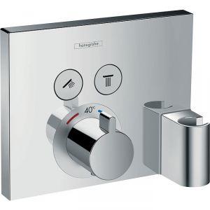 Façade mitigeur encastré pour mitigeur de douche thermostatique - Avec support douchette - ShowerSelect E encastré - Hansgrohe