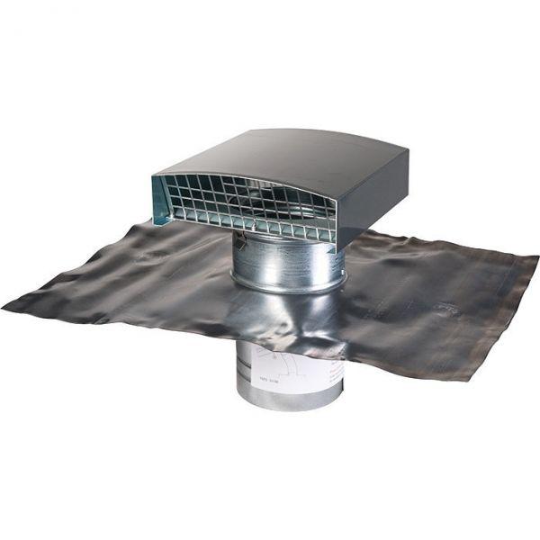 sortie de toit finition ardoise 160 mm vmc double. Black Bedroom Furniture Sets. Home Design Ideas