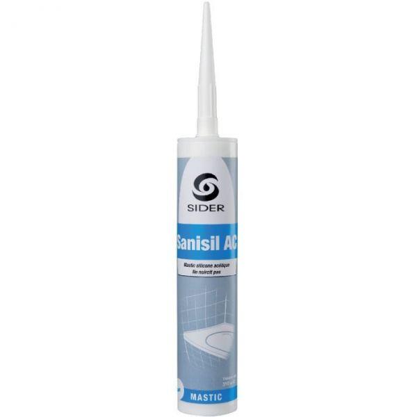 Silicone blanc - 310 ml - Sanisil AC - Lot de 15 - Sélection Cazabox
