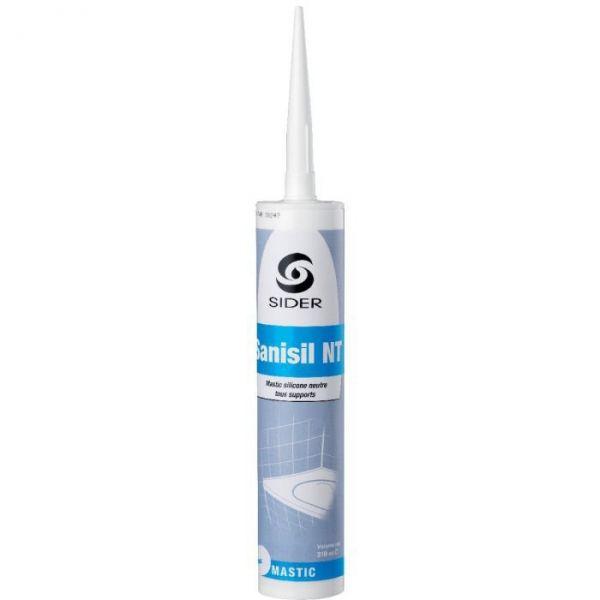 Silicone blanc - 310 ml - Sanisil NT - Lot de 15 - Sélection Cazabox