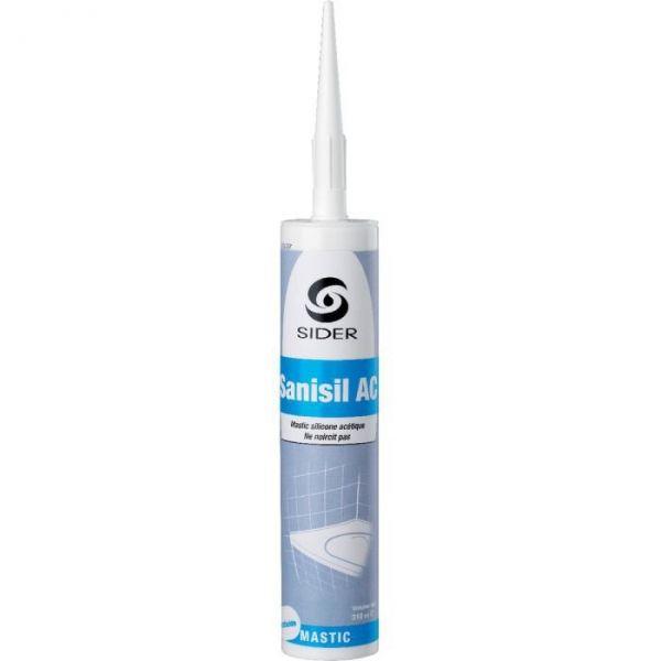 Silicone translucide - 310 ml - Sanisil AC - Lot de 15 - Sélection Cazabox