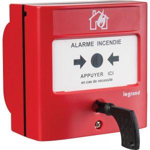 Déclencheur manuel pour équipement d'alarme incendie - Legrand