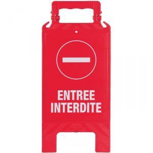 Chevalet pliable de signalisation - Entrée interdite - Novap