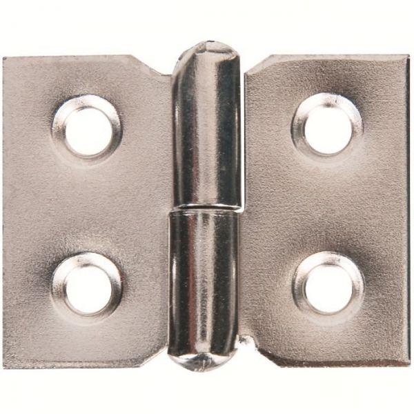 Paumelle de meuble à nœud roulé - 30x40 - droite - Monin