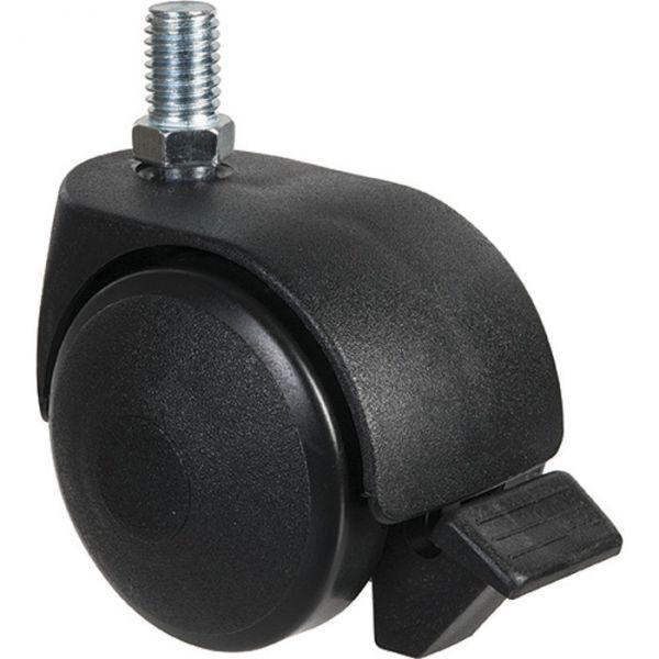 Roulette jumelée ameublement à tige filetée à frein série S49 TAF - 8x1 - Guitel Point M