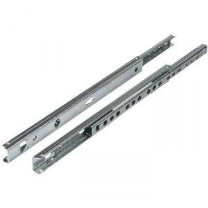 Coulisse à bille 10 kg pour tiroir bois - 185 mm - Rainure 17 mm - La paire - Hettich