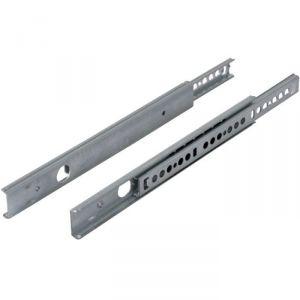 Coulisse à bille 12 kg pour tiroir bois - 350 mm - Rainure 27 mm - La paire - Hettich
