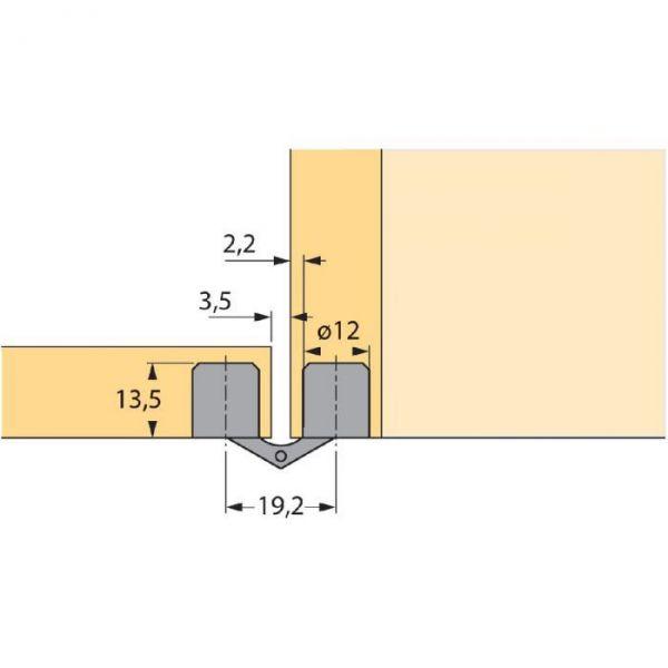 Charnière à nœud cylindrique - Hettich