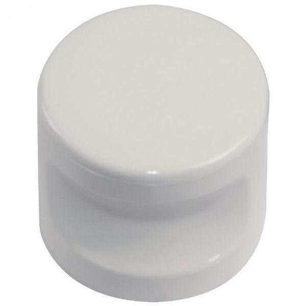 Bouton nylon encoche - Blanc - Normbau
